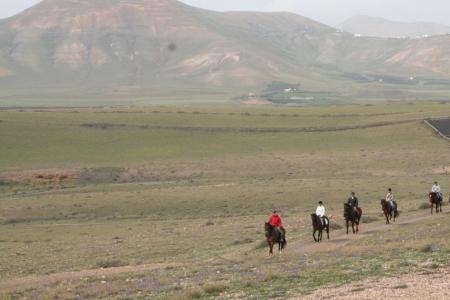 Ausflug auf Pferden durch Lanzarote