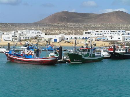 Caleta del Sebo Graciosa Fischerboote