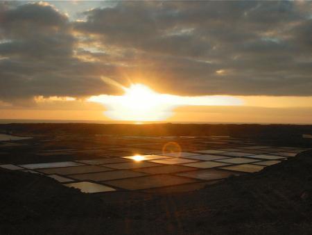 Salinen Sonnenuntergang