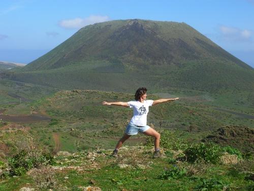 Yoga im Vulkan